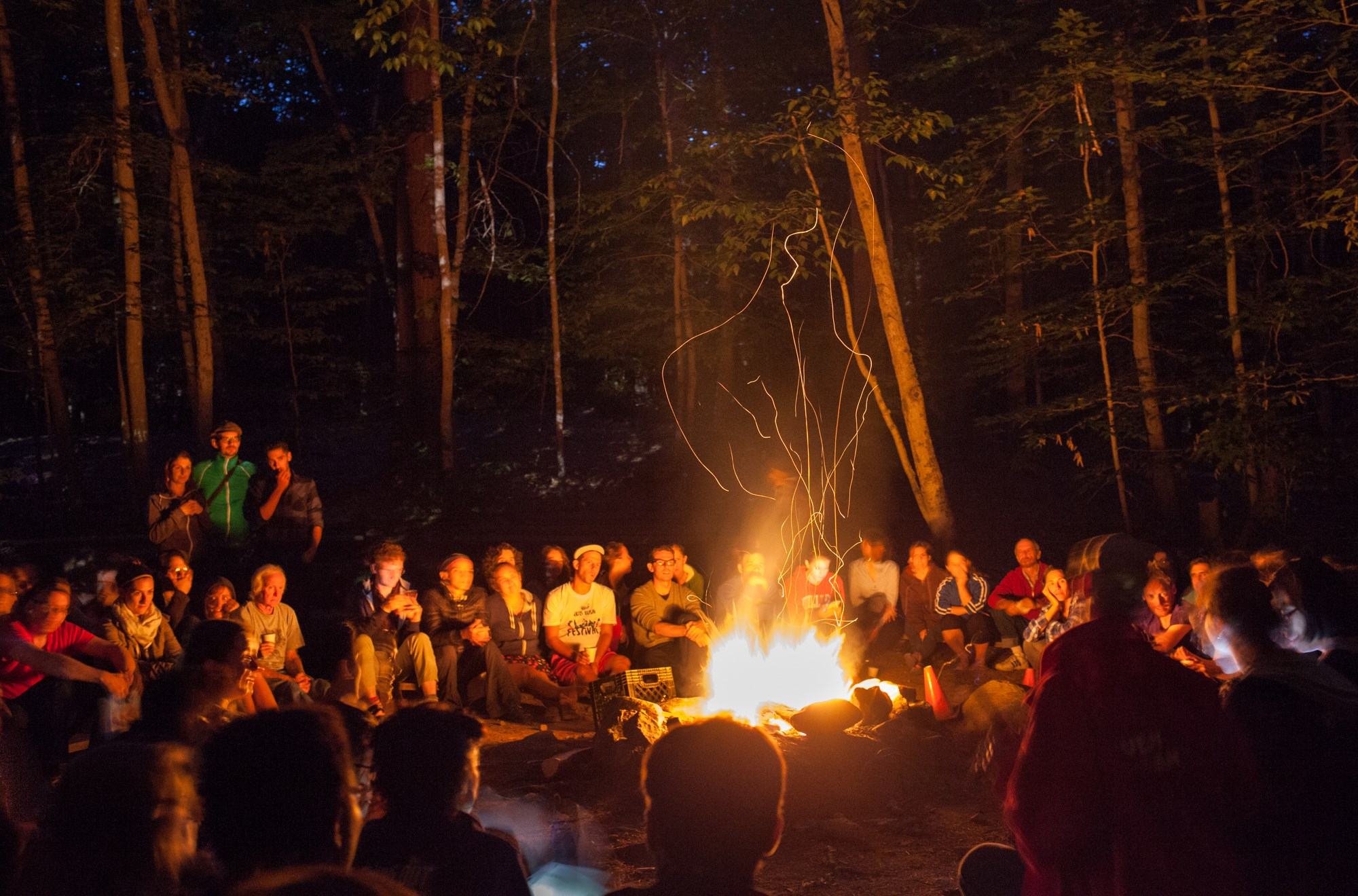 Singing classics at the campfire sing-along